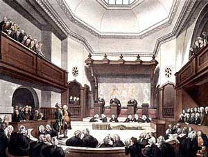 Court Of Common Pleas, Westminster Hall; by T Rowlandson