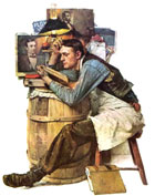 The Law Student; by Norman Rockwell