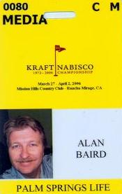 golf tournament credential